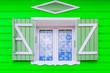 Leinwanddruck Bild - Fenêtre de ma créole