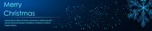 Shining Snowflakes. Banner. Abstract Image Of A Starry Sky Or Space, Consisting Of Points, Lines, N The Form Of Stars And The Universe. Low Poly Vector