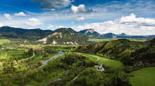 Dunajec River Flowing Towards ...