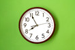 Leinwanddruck Bild - Clock showing 7:55 o'clock