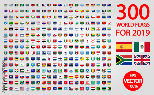 Fotografie, Tablou All official national flags of the world . circular design