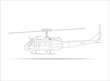 Hubschrauber Kontur Outline