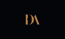 DA Logo Design Template Vector...