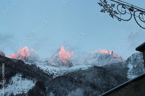 Fototapety, obrazy: Mountains (Mont-Blanc) closed to Chamonix (Alpes - France)