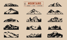 Mountain Peaks And Ridges Vect...