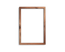 Old Wooden Frame Mockup A4 2x3 Vertical On A White Background. 3D Rendering.