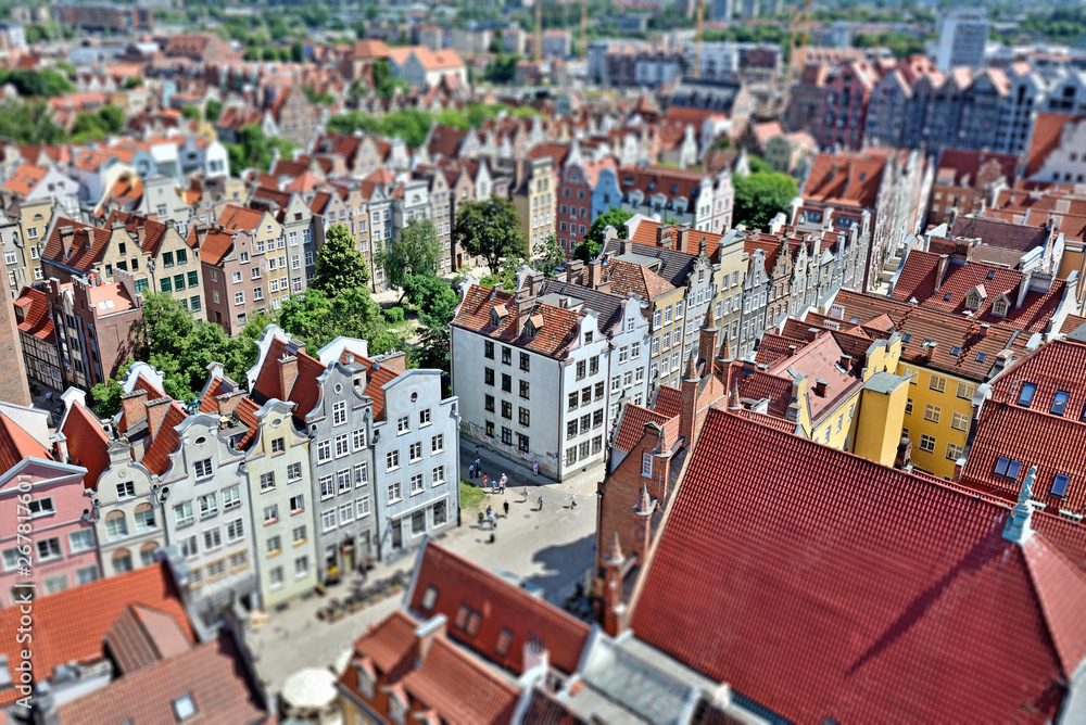 Fototapety, obrazy: Gdańsk z lotu ptaka