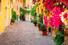 Street In Trastevere, Rome, It...