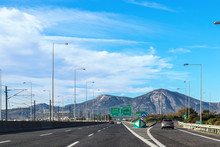 Exit On Highway In Greece Leav...