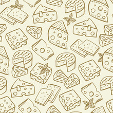 Cheese Hand Drawn Seamless