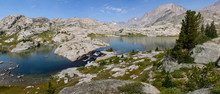 Cascade At Titcomb Basin In The Wind River Range In Wyoming