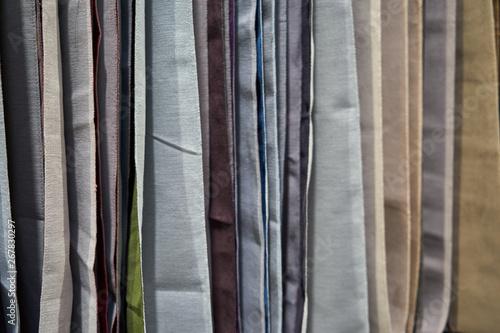 Montage in der Fensternische Huhn Image of various furniture fabrics.