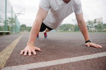 athlete is wrung out on the sports field