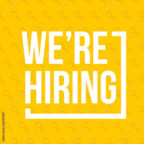 Obraz na plátně We're hiring. Vector banner