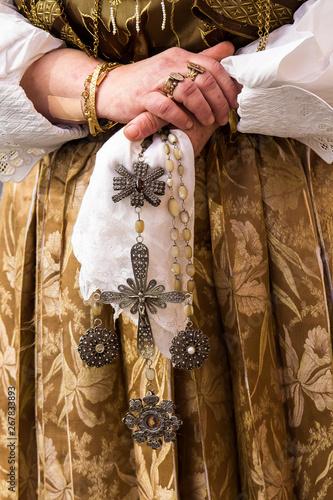 Obraz na plátně  CAGLIARI, ITALIA - MAGGIO 1, 2019: 363^ Processione Religiosa di Sant'Efisio - S