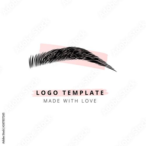 Photo The brow bar vector logo for beauty studio