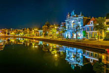 Night View Of Teylers Museum S...