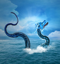 Sea Dragon Arising From The Bl...