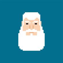 Grandfather Face Pixel Art. Gr...