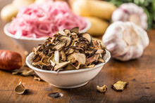 Dried Mushrooms Sour Cabbage G...