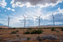 Wind Farm In Palm Desert, California