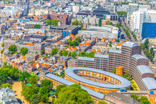 Aerial View Of Residential Area In The Hague, Netherlands