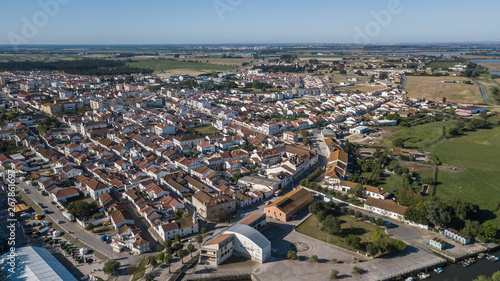 Fotografija Aerial view of Salvaterra de Magos, in Santarem, Ribatejo, Portugal