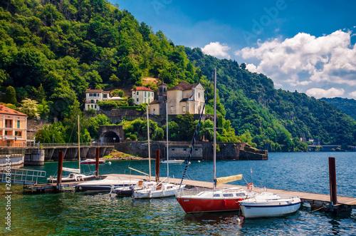 Fotografie, Obraz  Hafen von Maccagno am Lago Maggiore, Italien