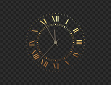 Gold Clock, Five Minutes To Mi...