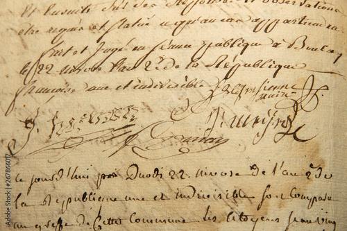 alte Schrift Canvas Print