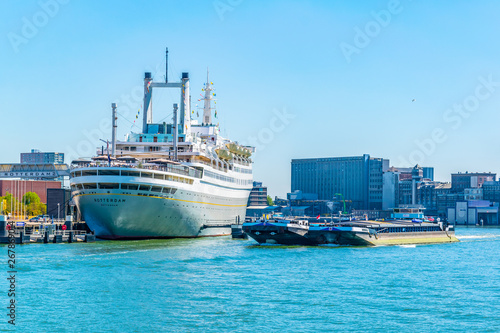 Photo  SS Rotterdam, a hotel and museum situated in a former cruise liner, Netherlands