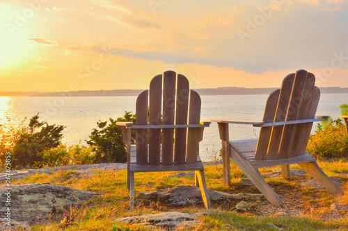 Foto op Aluminium Diepbruine Romantic golden hour Newport Rhode Island scenic travel
