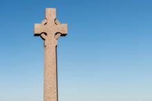 Cross Against Blue Sky Background