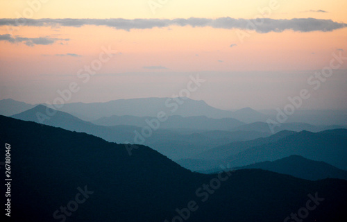 Max Patch in North Carolina in the Appalachian Mountains Canvas Print