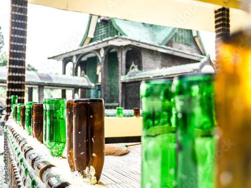 Creative idea places at Wat PA Maha Jedi kaeo (WAT million bottles) Canvas Print
