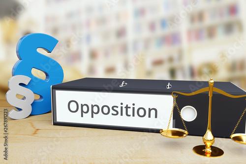 Obraz na plátně Opposition – Recht/Gesetz