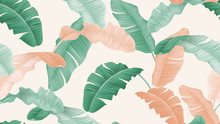 Tropical Plants Seamless Patte...