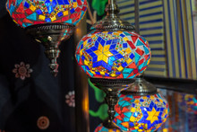 Stained Glass Hanging Lamps For Sale At The Handicraft Market