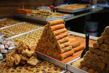 Middle Eastern Sweets Baked On The Market