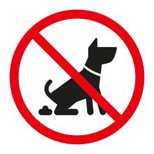 Zakaz Wyprowadzania Psów Wektor