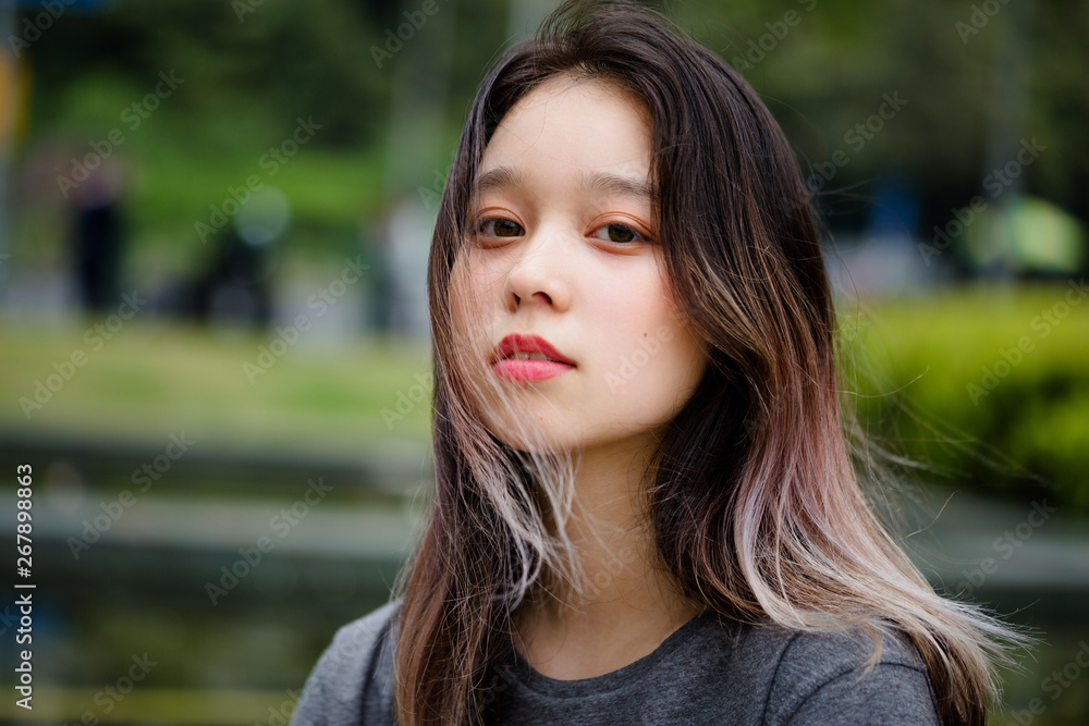 portrait of chinese teenager in shanghai