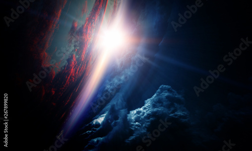 Fototapety, obrazy: Abstract planets and space background