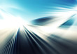 canvas print picture abstract colourful background with light and straight lines of light rays spreading in different directions