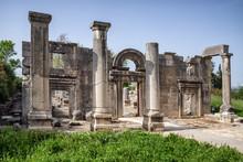 Ancient Synagogue Ruins At Kfar Bar'am In Israel