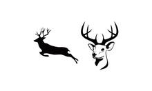 Silhouette Of Deer Logo