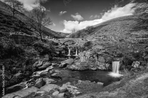 Obraz na płótnie Three Shires Head - Peak District