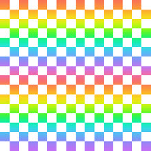 虹色のチェック模様