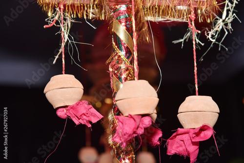 Copper kalash and hindu puja or hindu pooja