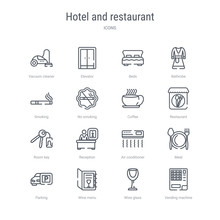 Set Of 16 Hotel And Restaurant...