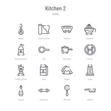 Set Of 16 Kitchen 2 Concept Ve...